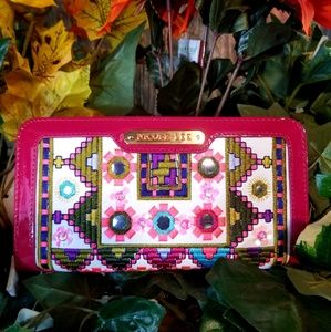 """Nicole Lee """"Laneke """" Tribal print Mirrored wallet"""